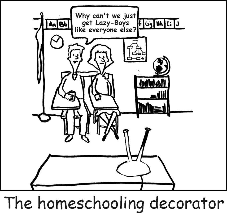homeschool decorating